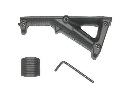 LOBOLOKO Airsoft Softair Griff Frontgriff - Front Grip - Verschiedene Ausführungen - Rail Schiene Angled Straight (MOD.2 Schwarz)