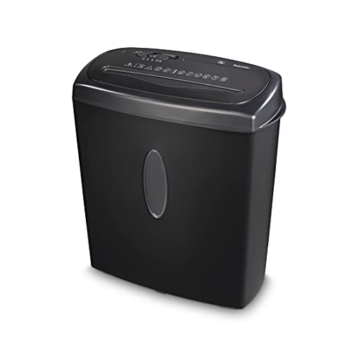 Hama - Trituradora de documentos para oficina en casa (corte cruzado, hasta 10 hojas de papel, CD, tarjetas de plástico, cesta de 15 litros, automática, nivel de seguridad P4 según DSGVO), color negro
