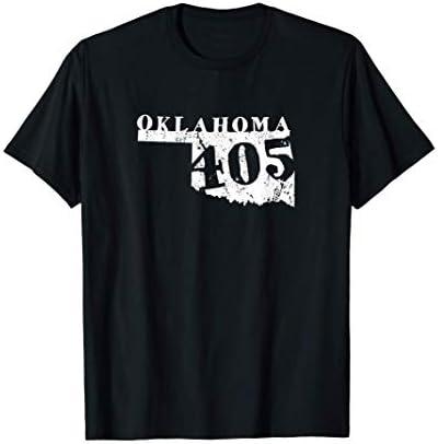 Oklahoma 405 Area Code Vintage T shirt T Shirt product image