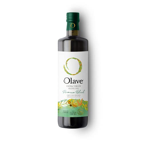 Olave - Extra Virgin Olive Oil - Premium - Hand Harvested from Selected Batches of Olives from Chile – First Cold Press – (33.8 fl oz / 1000 ml)