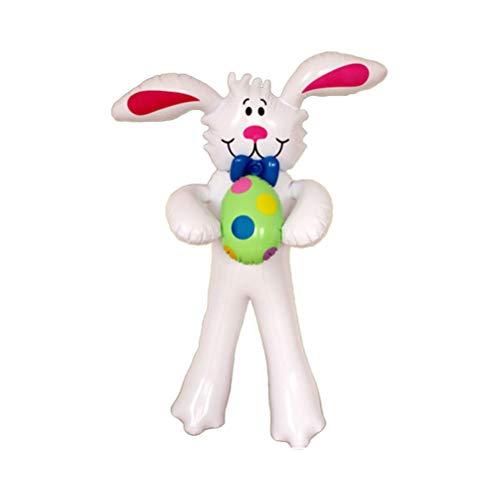 PRETYZOOM Conejo hinchable de Pascua, decoración de conejo de Pascua