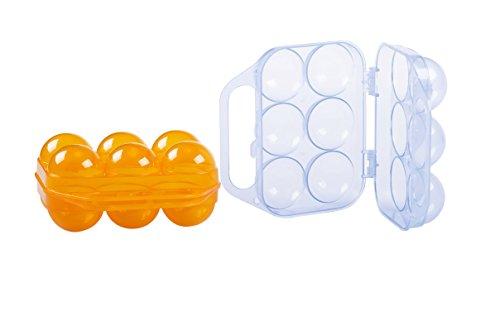 Boîte à Oeufs 1/2 Douzaine OCP-EGG06-D Egg Carrier 14.5x14x7cm Boite à Œufs 1/2 Douzaine - Pliable Boîte de Transport en Plastique à 6 Oeufs pour Pique-nique ou Voyage OCP-EGG06-D- Boîte spécifique à oeufs Protège des chocs