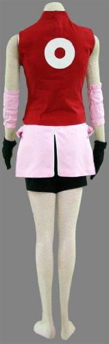 『BS022 NARUTO -ナルト- cosplay コスプレ衣装 コスチューム ♥春野サクラ 二代目 疾風伝 5点セット001-C22 (M)』の3枚目の画像