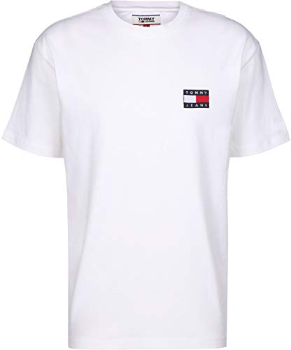 Tommy Jeans Herren T-Shirt Weiss (10) L