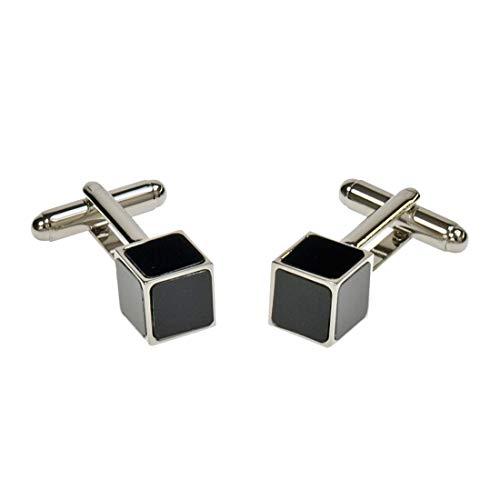 Simon Carter. Boutons de Manchette. Cubes, Bronze Blanc. Noir, Fantaisie.