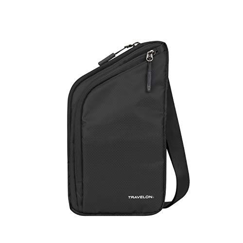 Travelon World Travel Essentials Slim Crossbody Bag, Black, One Size