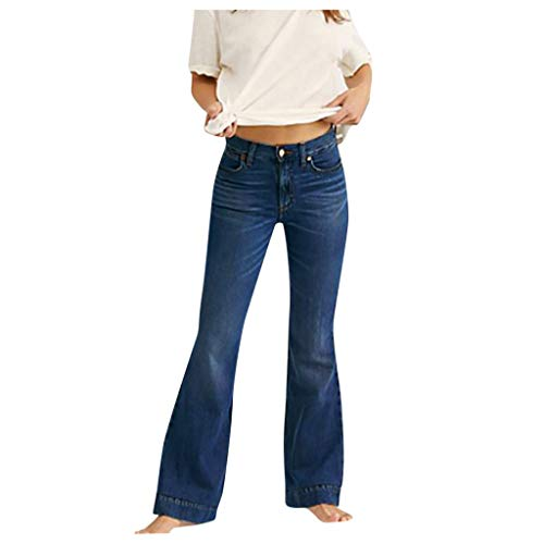 CHAOEN Damen Schlaghose Bootcut Übergröße Jeans Weites Bein Hose Langgröße Jeanshosen Mode Komfortabel Hüftjeans Baggy Pants