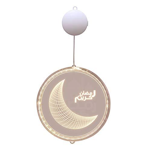 Decoración y arreglo del Festival Ramadán Farol LED lámpara colgante 3D vitrina ambiente interior lámpara Ramadan musulmán