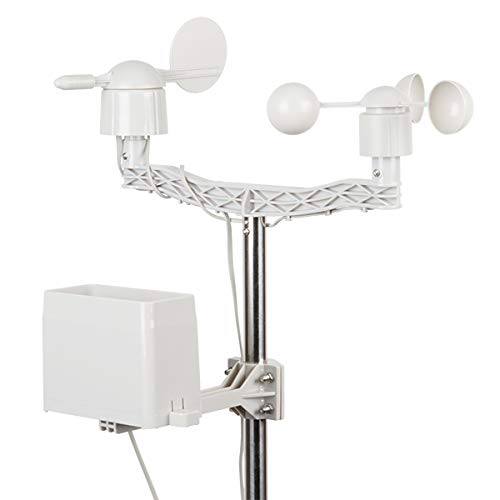 Weather Meter Kit - Station Includes Analog sensors Wind Vane Cup Anemometer Tipping Bucket rain Gauge RJ11 terminated Cables