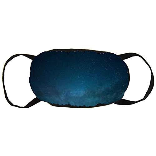 Natuur, sky, nacht, sterren, kosmos, Atmosphere Cotton Gezichtsmasker Mouth met modieuze anti-douche gezicht Maks Earloops herbruikbaar Mouth Muffle Mask