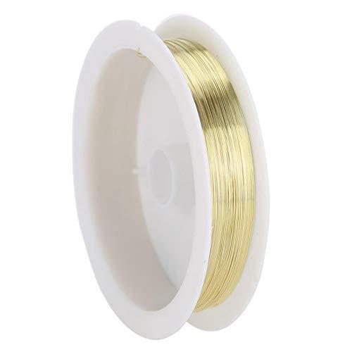 Reparación de cuentas [GOLD], DIY Cordón de cuentas Accesorios de joyería Arte de uñas Decoración de manicura Hilo de alambre de cobre metálico para manualidades Fabricación de joyas Alambres de joye