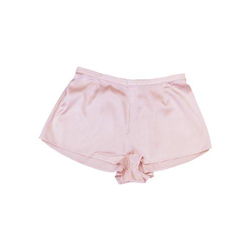 Jasmine Silk Damen Seide Pur Boxer Shorts Boxershorts Pink (Medium)