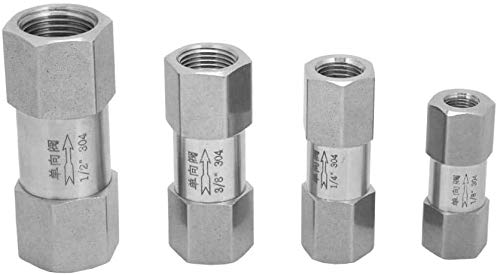 Sechskant-Rückschlagventil, Einweg-Rückschlagventil aus rostfreiem Stahl 304, Rohrrohrverbinderwerkzeug Verschiedene Größen 1/8