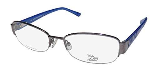 Saks Fifth Avenue Saks Fifth Avenue 275 0CVL Dark Ruthenium Eyeglasses