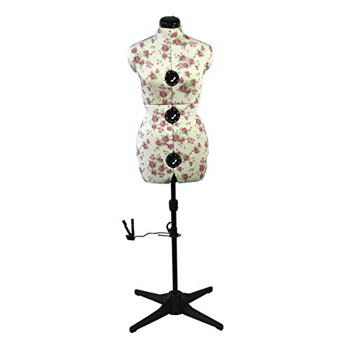 Mannequin Couture Réglable Floral Taille Moyenne