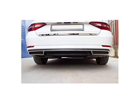 Gender Se adapta a Octavia A7 Difusor Trasero Cromo 3 Piezas S.Steel 2013-