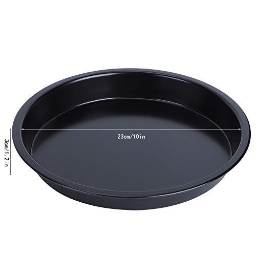 AUNMAS Utensilios para Hornear antiadherentes de Acero al Carbono, Bandeja para Hornear fácil, Herramienta para Hornear tortas, Pan, Utensilios de Cocina para Pasteles(10 Inches)