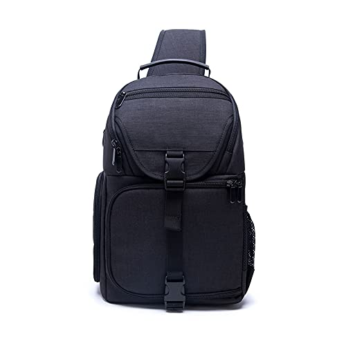 Bolsa para cámara profesional para cámara DSLR/SLR, sin espejo, resistente al agua, funda para cámara Sony Canon Nikon y accesorios de trípode de lente (negro)