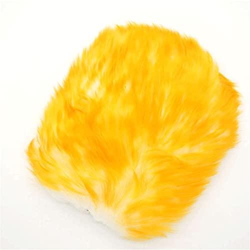 Haoooanqjst rengöringshandskar Super framsynt hår andningsförmåga mesh tassar fårskinn bil tvätt rengöring skinnande handskar lyx lamm ull handske ull tvätt mitt