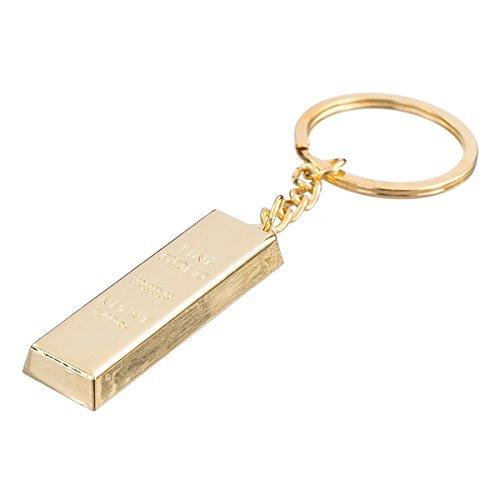 """nanomondo Schlüsselanhänger """"Goldbarren"""" aus Metall N1051"""