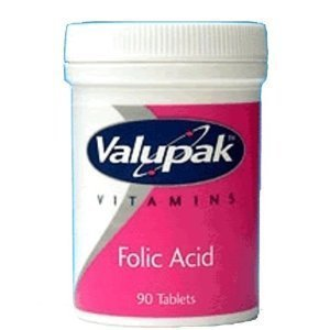 Folic Acid 400mcg Tablets 90 - 2packs by Valupak