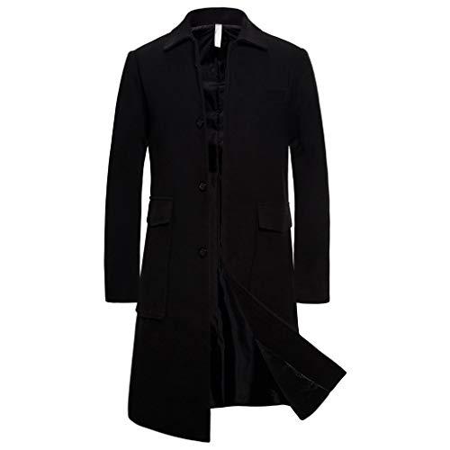 FRAUIT Giacca Invernale da Uomo Vintage Cappotto Uomini Lungo Elegante Giacche Primaverile Giacca Ragazzo Elegante Slim Fit Inverno Parka Invernali Lungo Giubbotto Cappotti
