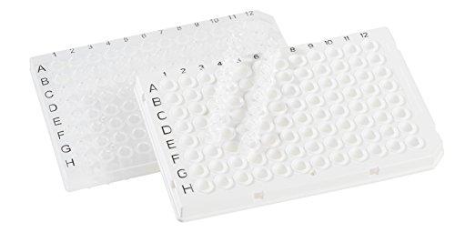 neoLab 7-5203 96well PCR-Platte, halber Rand, Klar (50-er Pack)
