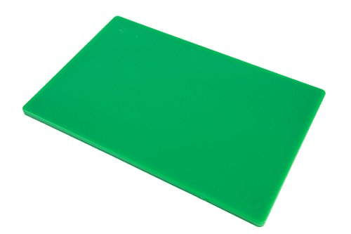 Professional Plastic Cutting Board, HDPE Poly for Restaurants, Dishwasher Safe and BPA Free, 18 x 12 x 0.5 Inches, Green