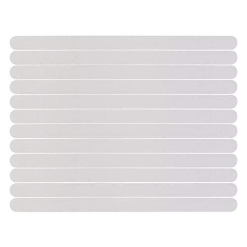 Anti-Rutsch-Streifen Aufkleber 12 Stück transparent selbstklebend Anti-Rutsch-Streifen Aufkleber für Badewanne Dusche mit Acrylplatte zur Positionierung