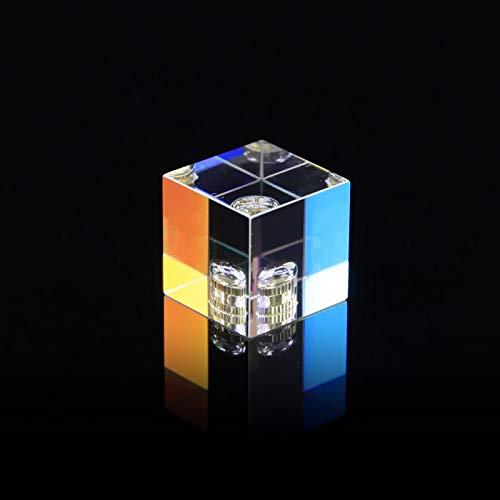 XBF-TOOL, 1pc 22 * 22 * 22 mm / 0,86 * 0,86 * 0.86in cúbico Ciencia Cubo Fotografía óptico Prisma Prisma con hexaedras la decoración del hogar del Prisma