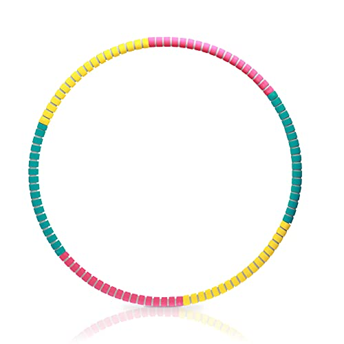 Rwest X Fitness Hula Hoop, Adult Hula Hoop for Weight Loss and Massage, 6-8-Piece Adjustable Hula Hoop for Fitness/Training/Sports/at Home(0.95 kg) Purple (Gelb)
