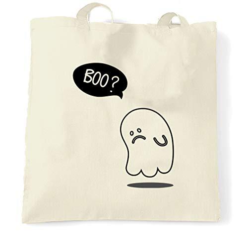 Neuheit Halloween Tragetasche Sad Ghost-Witz Natural One Size