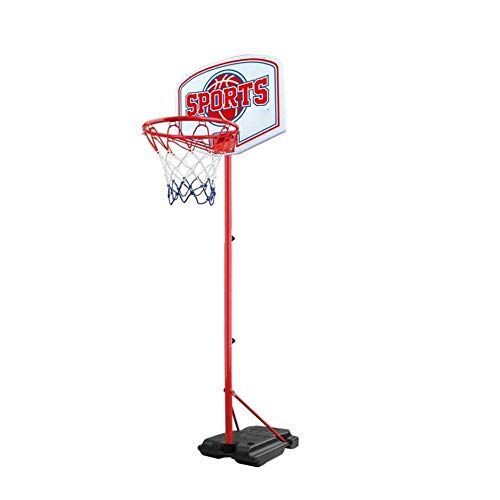 Qin Kids Portable Height-Adjustable Sports Basketball Hoop Backboard,Basketball Hoop Kids Basketball Stand and Hoop, 160-270cm, Outdoor Activity Center