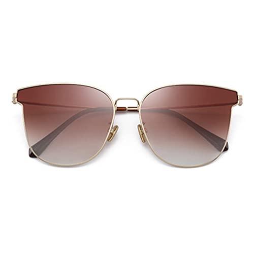 DUOYE Gafas de Sol polarizadas, Memory Titanium Flexible y Fino Mariposa Marco, sombreado y antirreplante, Adecuado para Pescar, Viajes, Desgaste de la Moda, Conducir,Marrón