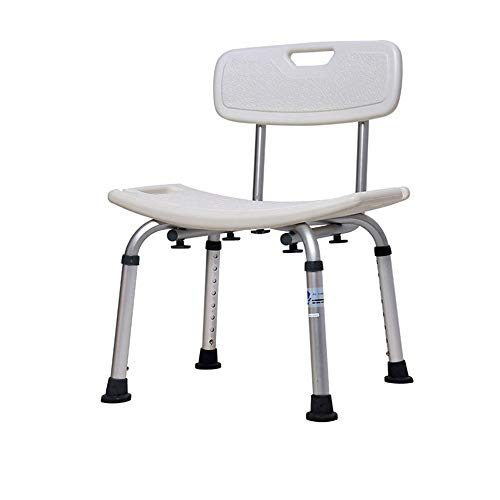 Great Price! Bjzxz Shower Stool Height-Adjustable Shower Stool with Backrest Aid for Bathing Aid Sup...