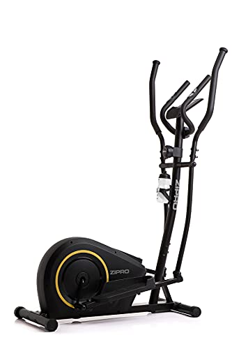 ZIPRO Bicicleta elíptica para Casa BURN GOLD, entrenador eliptico, LCD Pantalla, sensores de pulso, ajuste de resistencia, 120kg