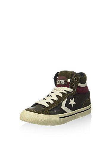 Converse Sneaker Alta PRO Blaze Hi Leather/Suede Nero/Verde Militare EU 32