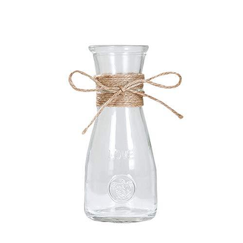Doolland Jarrones de Cristal Floreros de Vidrio,Jarrones Decorativos Transparente para Decoración de Mesa de Flores (A5)