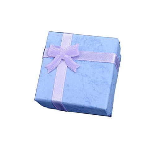 Fransande Caja de regalo para hombres y mujeres, caja de regalo para joyas, pendientes, caja de regalo, color morado