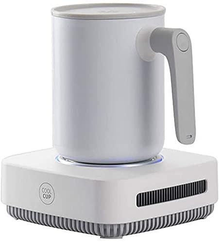 X&J Refrigeración instantánea Smart Cup Cooler electrónico, calentamiento rápido, portátil, para bebidas, vino, oso, leche, adecuado para el hogar y la oficina, B (color: B)