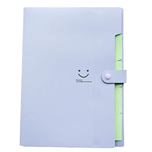 Romote Süßigkeit-Farben-Multi-Layer-lächeln Mappe A4 Papier Expanding File Folder Taschen Akkordeon Document Organizer (lila)