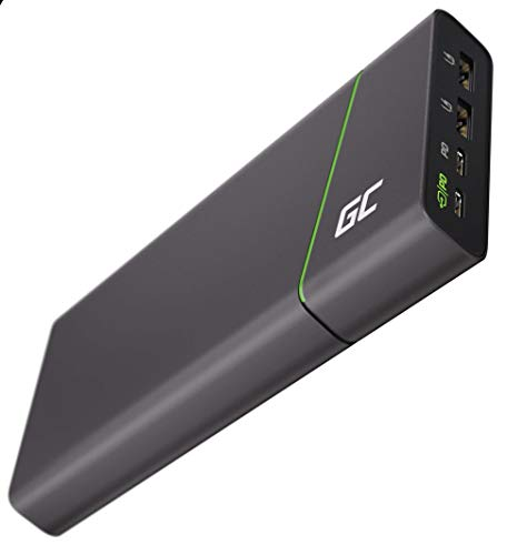 Green Cell Power Bank GC PowerPlay Ultra 26800mAh 128W | 4-Porte Caricabatterie Portatile con Ricarica Rapida QC USB, Power Delivery USB-C 65W | Compatible con MacBook, iPad, iPhone, Galaxy, Switch