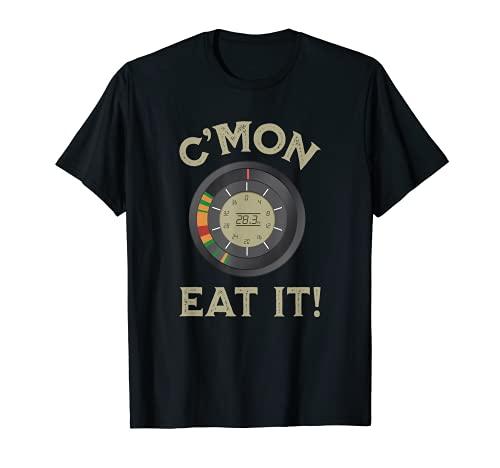 Novedad Pesca en Hielo Flasher Fish Finder Graphic C'mon Eat It Camiseta
