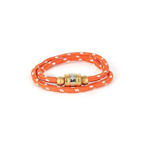 Zuiaidess Bracelet Tressé,des Couples Tissés À La Main en Acier Titane Orange Sangle Nylon Réglable Bracelets Plaie Lifeline pour Femmes Hommes Accessoires Sports De Plein Air