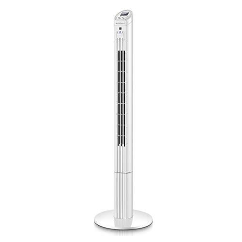 Elektrische ventilator, 3 verticale torenventilatoren met 40 W, stille afstandsbediening, desktopventilator met 7,5H-takt
