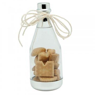 lot de 5 - ballotin à dragées forme bouteille plexi pour baptême mariage - pour baptême mariage communion - ballotin à dragées design et moderne