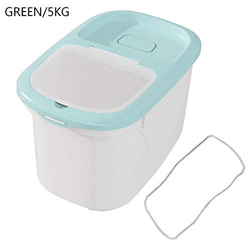 HoneybeeLY 5 Kg Kunststoff Kleine Küche Pest-Proof Reis Eimer, Trockenfutter Aufbewahrungsbox Getreidespender Reisbehälter Für Nudelgetreidereis