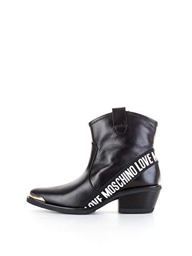 Love Moschino JA21015G1C Bottes Texans/Motards Femme Noir 36