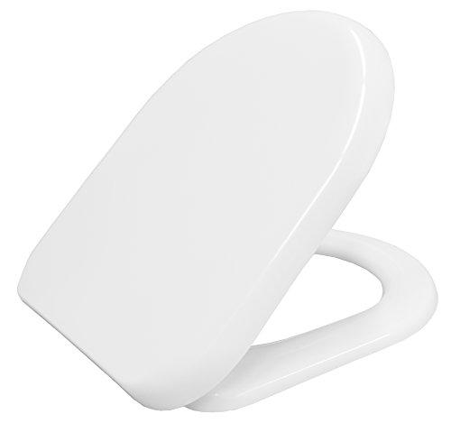 Bemis 2086CL000 toiletbril, D-vorm, langzaam sluitend, afneembaar, wit