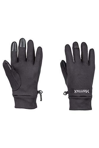 Marmot Power Stretch Connect Glove Gants Polaires, Chauds, Coupe-Vent, hydrofuges, pour Outdoor, vélo, Course à Pied Black FR : L (Taille Fabricant : L)